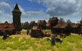 Построенный игроками городище на орденских землях