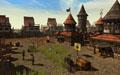 Построенный игроками столица на орденских землях